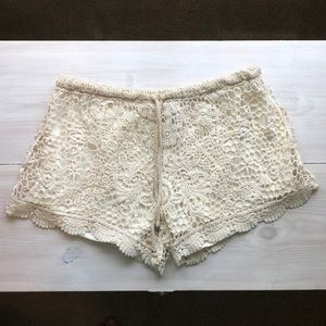 NWT Ivory Lace Shorts